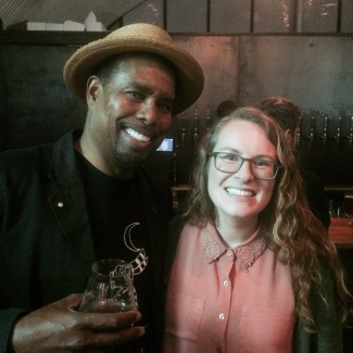 Brooklyn Brewery's Garrett Oliver with Natalya Watson