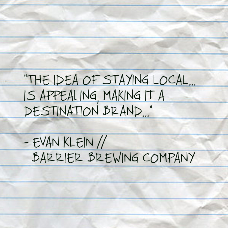 Evan Klein // Barrier Brewing Co