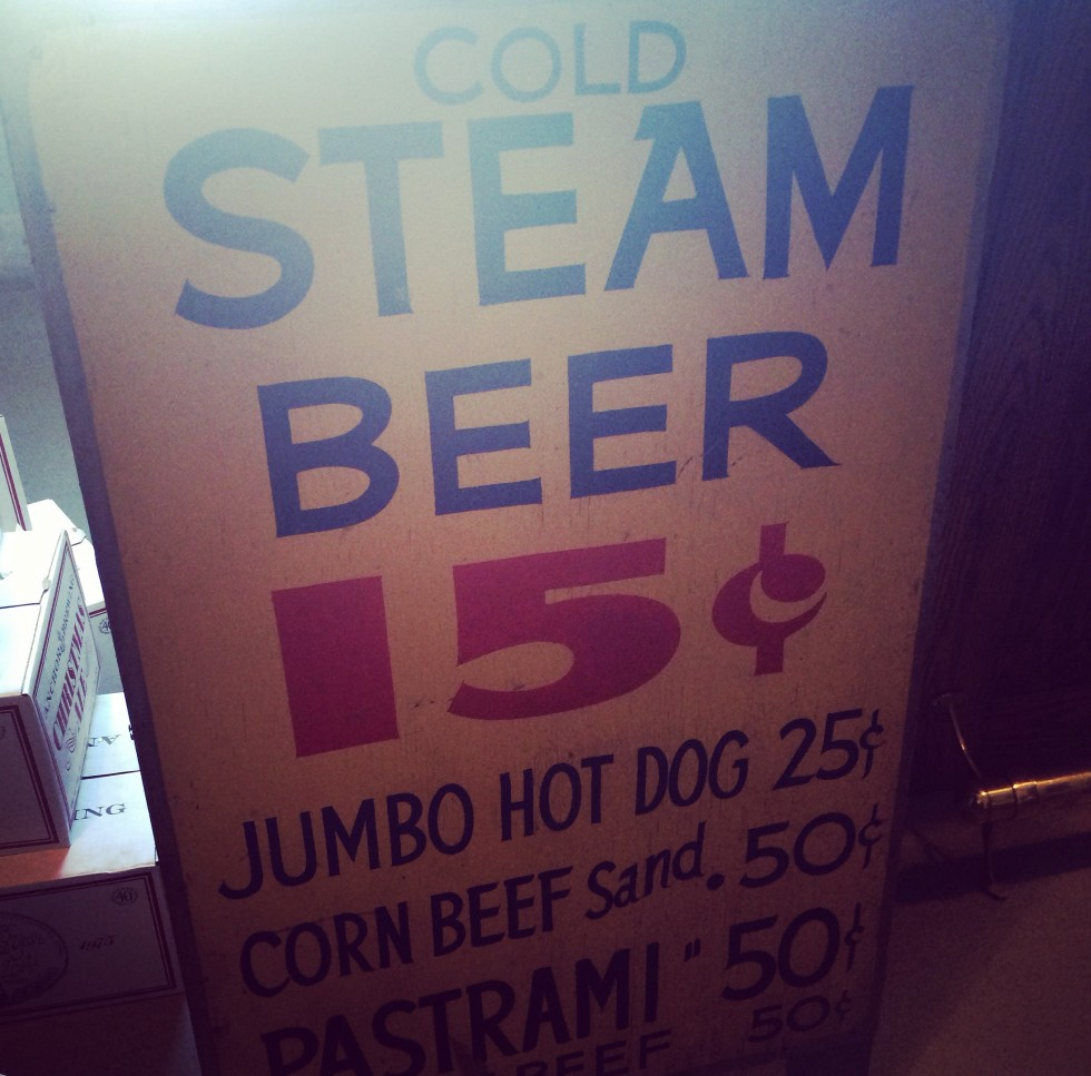 Anchor // Steam Beer sign