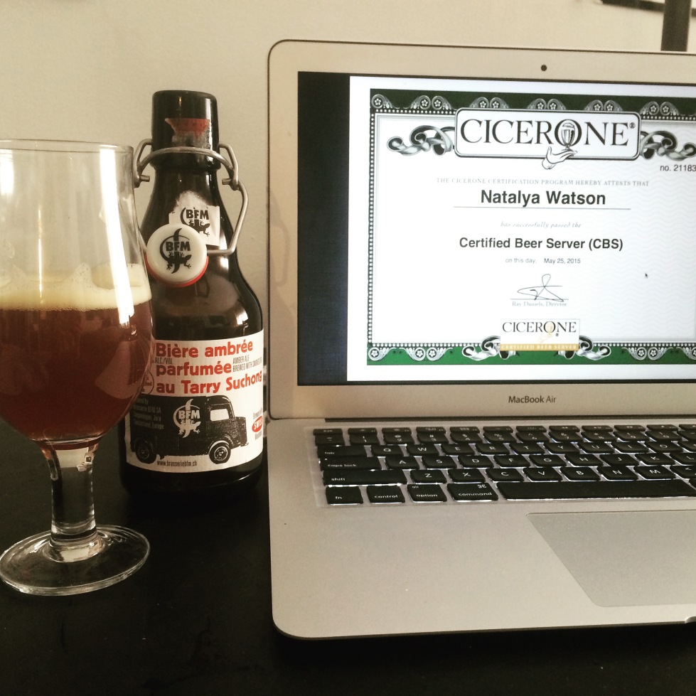 Cicerone Certification // Certified Beer Server