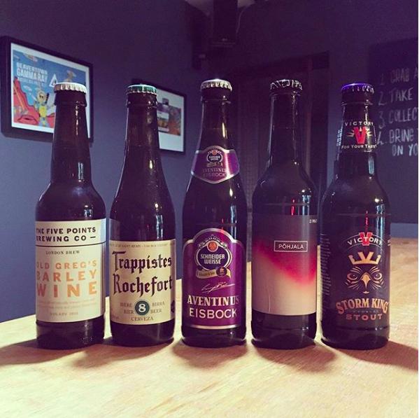 Winter warmers beer tasting line up