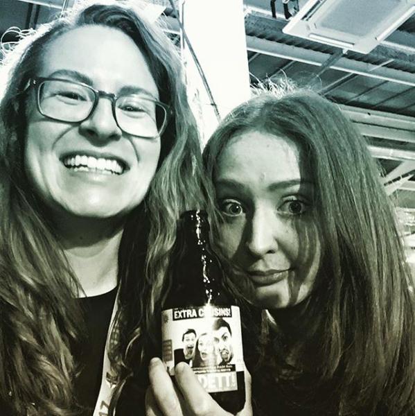 Cousin bonding at Craft Beer Rising
